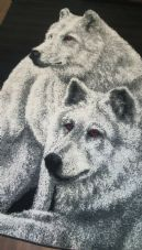 TOP QUALITY WOLF 160X230CM APP 8X5FT BEST AROUND RED EYE'S ANIMAL PRINT...
